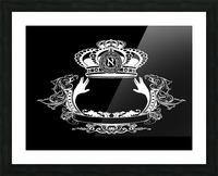 monogram crown  4 black Picture Frame print