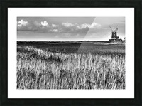 Marsh windmill Picture Frame print