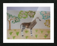 Okapi Picture Frame print