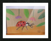 Ladybug Picture Frame print