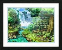 ART   water falls   baal shem tov 1 Picture Frame print