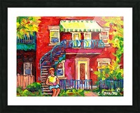 MONTREAL STAIRCASE SCENE Picture Frame print