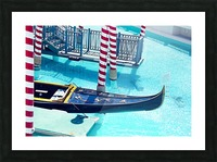 Classic Gondola boat and blue water Picture Frame print