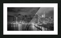 NEW YORK CITY Monochrome Night Impressions | Panoramic Picture Frame print