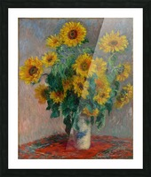 Still Life with Sunflowers by Monet Picture Frame print