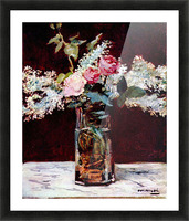 Still life, lilac and roses by Manet Picture Frame print
