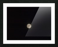 Photo image of a full moon on a clear night  Picture Frame print
