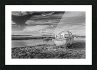 Loughor Estuary boats Wales Picture Frame print