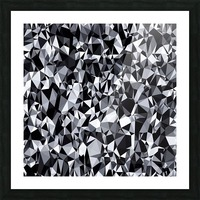 geometric triangle polygon pattern abstract in black and white Picture Frame print