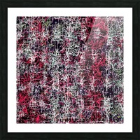 psychedelic abstract art pattern texture background in red pink black Picture Frame print