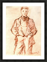Study of a boy by Manet Picture Frame print