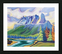 Castle Mountain Beauty Picture Frame print