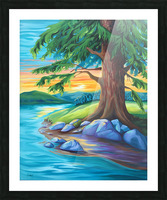 Guardian of the Bend Picture Frame print