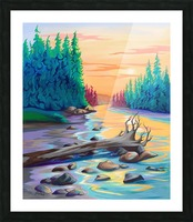 Early Morning on James River  Picture Frame print