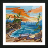 Evening Cove Picture Frame print