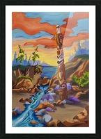 Haida Totem Picture Frame print