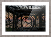 Trapped Sunset Picture Frame print