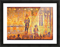 Study of the circus parade by Seurat Picture Frame print