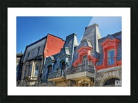 Montreal Rooftops Picture Frame print