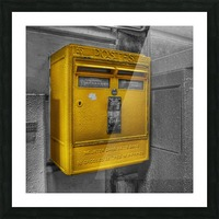 Old French Mailbox Picture Frame print