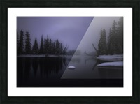Winter Bow River Picture Frame print