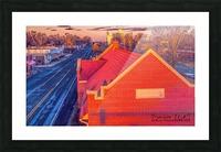 Lonoke, AR | Red Oak  Picture Frame print