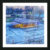 Lonoke, AR   Jackrabbit Dairy Bar  Picture Frame print