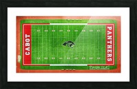 Cabot, AR | Panther Football Field Picture Frame print