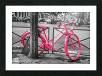 Pink Bicycle Picture Frame print