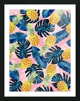 Tropical and exotic pattern Picture Frame print