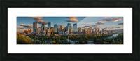 Calgary Downtown Four Bridges Sunset Picture Frame print