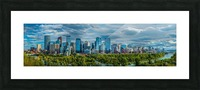 Calgary Downtown Four Bridges Blue Picture Frame print