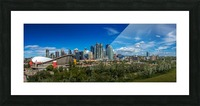 Calgary and the Saddledome on a Sunny Day Picture Frame print