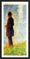 Sunday at the Grand Jatte, study of a fisherman by Seurat Picture Frame print