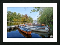 Canoes Picture Frame print