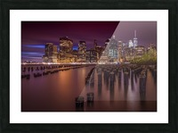 Manhattan Skyline at Sunset  Picture Frame print