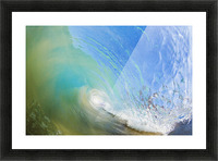 Hawaii, Maui, Makena, Beautiful blue wave breaking at the beach. Picture Frame print