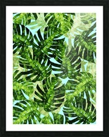 Watercolor leaves tropical I Picture Frame print
