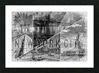NEW YORK CITY Urban Collage No. 2 Picture Frame print