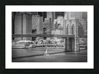 NEW YORK CITY Brooklyn Bridge & Manhattan Skyline Picture Frame print