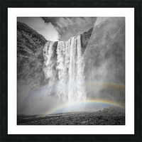 ICELAND Skogafoss Picture Frame print