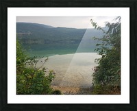 Crystal Clear White Lake Picture Frame print
