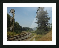Riding The Rails Picture Frame print