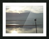 Smoky Sunsets Over The Mountains Picture Frame print