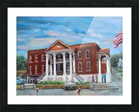Old Courthouse Vivid Picture Frame print