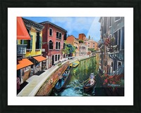 Venice in Summer Vivid Picture Frame print