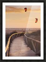 Spain, Andalusia, Cadiz, Costa de la Luz, Parasurfing; Tarifa Picture Frame print