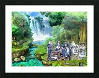 Praying with MINYAN Picture Frame print