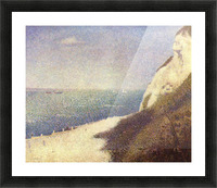The beach in Honfleur by Seurat Picture Frame print