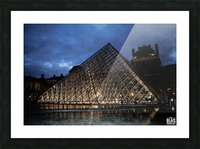 Le Louvre Pyramid Picture Frame print